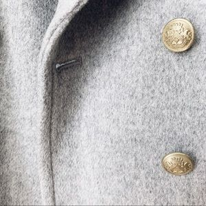 J. Crew Jackets & Coats - J. Crew Factory Grey Wool Peacoat